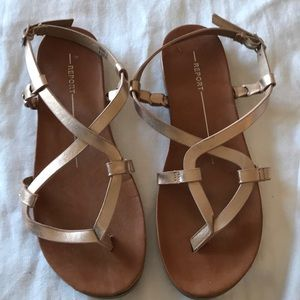Report Rose Gold Sandals Size 6